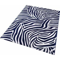 Teppich Zebra, Wecon home, rechteckig, Höhe 8 mm blau 120 cm x 170 cm x 8 mm