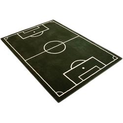 Kinderteppich Fussballplatz, HANSE Home, rechteckig, Höhe 9 mm, Fußball, Spielteppich 190 cm x 280 cm x 9 mm