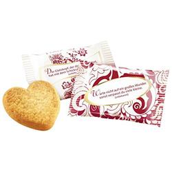 Coppenrath Cookie-Herzen Vanille einzeln verpackt 200 Stück je 5g