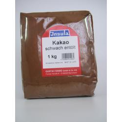 Kakaopulver schwach entölt dunkel von Insula Kakaobohnen 1000g
