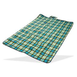 Picknickdecke / Stranddecke grün 190 x 130 cm Acryl-Fleece