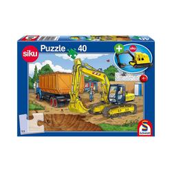 Schmidt Spiele Puzzle Siku Puzzle 40 Teile Bagger, Puzzleteile