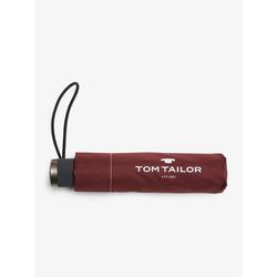 TOM TAILOR Taschenregenschirm Regenschirm rot