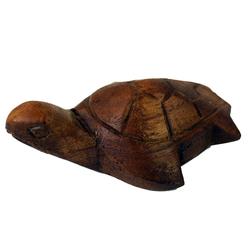 Guru-Shop Dekofigur Geschnitzte kleine Deko Figur - Schildkröte 4