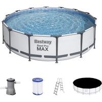 BESTWAY 56950 Steel Pro Max Frame Pool Set 427x107cm Pumpe Leiter Abdeckplane