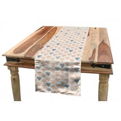 Abakuhaus Tischläufer Esszimmer Küche Rechteckiger Dekorativer Tischläufer, Abstrakt Pastellkristalldiamanten grau 40 cm x 225 cm