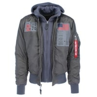 Alpha Industries Ma-1 D-Tec Blood Chit dunkelgrau M