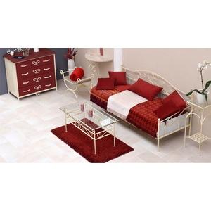 Tagesbett Metall Gora - 80x200 cm - creme - Tagesbett nicht ausziehbar