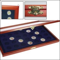 Münzen-Vitrinen für 2-Euro-Münzen in Kapseln