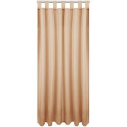 Vorhang, Bestlivings, Schlaufen (1 Stück), Blickdichte Gardine Fertiggardine mit Schlaufen, Schlaufenschal in versch. Größen und Farben verfügbar braun 140 cm x 145 cm