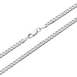 925 Silberkette: Panzerkette Silber 3mm