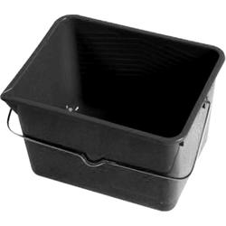 TRIZERATOP Farbeimer Farbeimer PVC schwarz, mit literskala + Ausgieseck