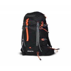 Rucksack TRIMM - Manta Black/Orange (BLACK-ORANGE)