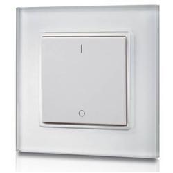LED Stripe Dimmtaster 1fach Wandpanel Sender Glas Funk EOS 05
