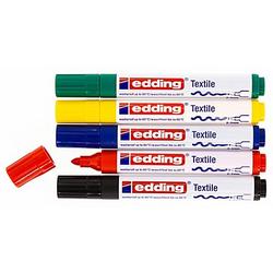 edding Textilmarker, Grundfarben, 5 Stifte