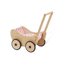 Pinolino® Puppenwagen Trixi - Herzchen, aus Holz mit Bettzeug; Made in Europe