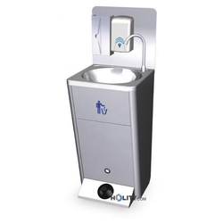 Mobiles Handwaschbecken aus Edelstahl h21848
