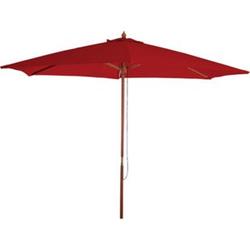 Sonnenschirm Lissabon, Gartenschirm Marktschirm, Ø 3m Polyester/Holz 6kg ~ bordeaux