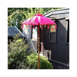 Oriental Galerie Sonnenschirm Bali-Sonnenschirm 90 cm Pink, Handarbeit