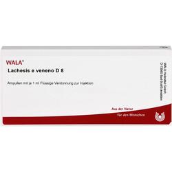 LACHESIS E veneno D 8 Ampullen 10 ml