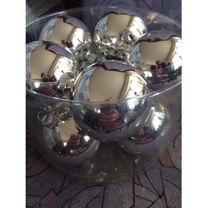 Baumschmuck Kugel Silber Glanz oder Matt/Glanz gemischt 10 er Set 6 cm WG 16