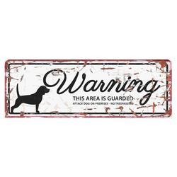 D&D Warntafel Beagle Englisch weiß