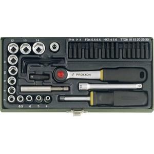Proxxon Industrial Steckschlüssel-Bit-Einsatz-Set metrisch 1/4  (6.3 mm) 39teilig 23070