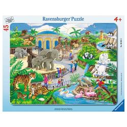 Ravensburger Rahmenpuzzle Besuch Im Zoo - Rahmenpuzzle, 45 Puzzleteile