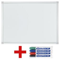 Whiteboard / Weißwandtafel inkl. 4er-Pack Whiteboard-Marker weiß, OTTO Office