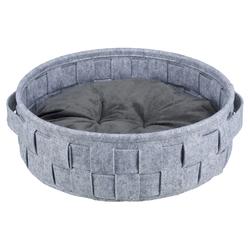 Trixie Bett Lennie grau für Hunde, Durchmesser: 45 cm