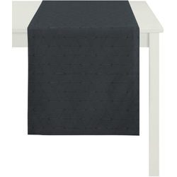 APELT Tischdecke 7901 Uni (1-tlg), Fleckschutz grau 150 cm x 250 cm