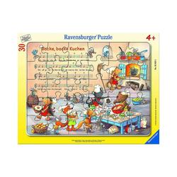 Ravensburger Puzzle Backe, backe Kuchen, 30-48 Teile Rahmenpuzzle, Puzzleteile