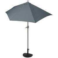 MCW Balkonschirm Lorca-S-270, LxB: 135x145 cm, Optional mit Schirmständer, witterungsfest, Platzsparend zusammenfaltbar schwarz