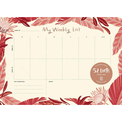 52 Lists my Weekly List Desk Pad