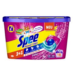 Spee Waschmittel Power-Caps Color , Colorwaschmittel für langanhaltend duftende und strahlende Buntwäsche, 0,32 kg - Box für 16 Waschladungen