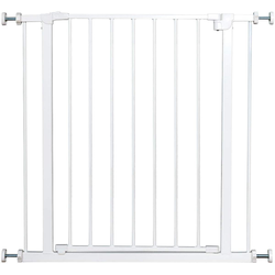 COSTWAY Treppenschutzgitter Absperrgitter Treppengitter Laufgitter weiß 71 cm x 77 cm