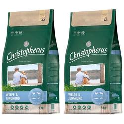 Christopherus Trockenfutter Welpe - Junghund, 2 Beutel á 4 kg