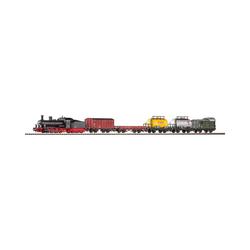 PIKO Modelleisenbahn-Set Start-Set mit Bettung Güterzug Dampflok G7 mit 5