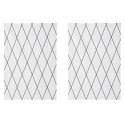 Home affaire Geschirrtuch Nervi, (Set, 4-tlg), aus Bio-Baumwolle, mit Rautenmotiv weiß