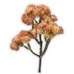 Kunstblume Fetthenne Kunstpflanze Dekopflanze 1 Stk 30 cm apricot Fetthenne, matches21 HOME & HOBBY, Höhe 30 cm, Indoor orange