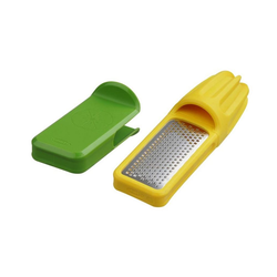 chef'n Zitruspresse Vibe Zitronenpresse 2in1, Kunststoff, mit integrierter Reibe