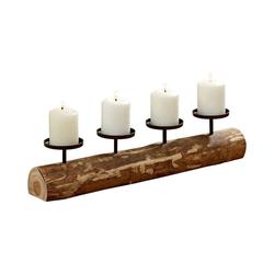 "BOLTZE Kerzenständer Kerzenständer ""Lumber"" L51 cm braun"