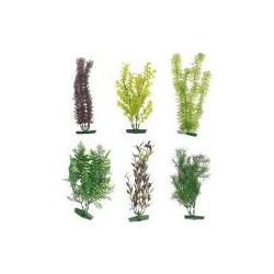 Plastikpflanzen, groß für die Dekoration des Hintergrundes