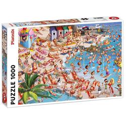 Piatnik Puzzle 5367 Francois Ruyer Strand 1000 Teile Puzzle, 1000 Puzzleteile bunt