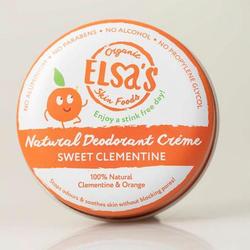 Elsa's Organic Skin Foods - Deodorant Creme - Sweet Clementine