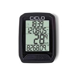 Ciclosport Fahrradcomputer Protos 113 Kabel Fahrradtacho 4 Zeilen Display schwarz