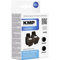 KMP KMP Tintenpatronen 2er-Pack H29D Schwarz 1900,4021 Tintenpatrone
