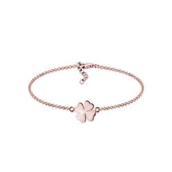 Elli Armband Kleeblatt Glücksbringer Symbol Talisman 925 Silber, Kleeblatt rosa