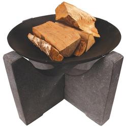 Esschert Feuerschale FF80 | Granito Fuß | Ø 580 mm
