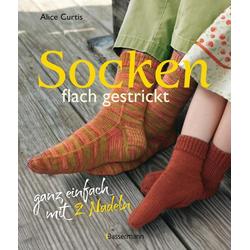 Socken flach gestrickt als Buch von Alice Curtis